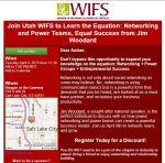 Utah WIFS April 2013 Invitation for Networking Luncheon Hosting Jim Woodard in Utah